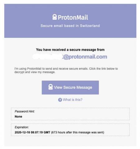 Destinataire ProtonMail