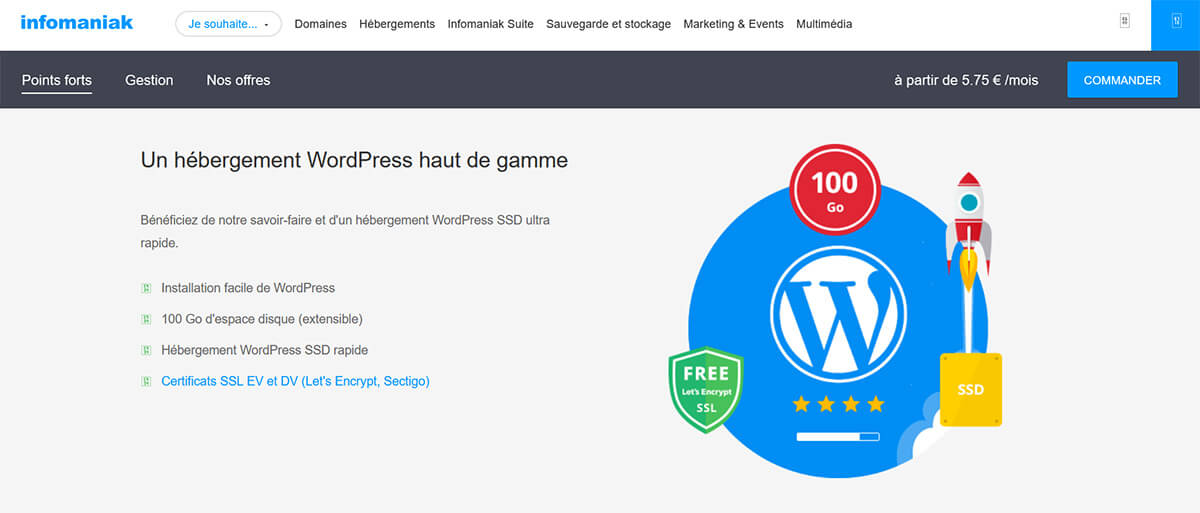 Hébergement WordPress Infomaniak