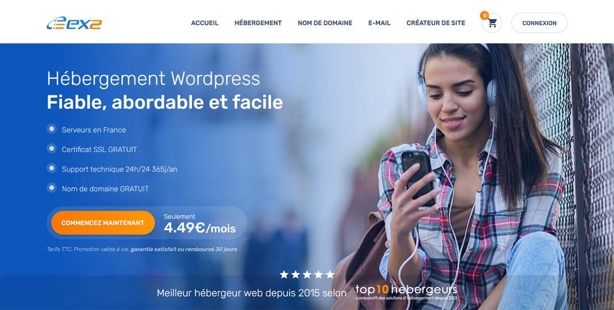 Hébergeur web Ex2
