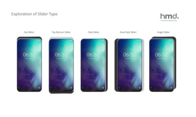 Smartphone coulissant imaginé par HMD (Nokia)