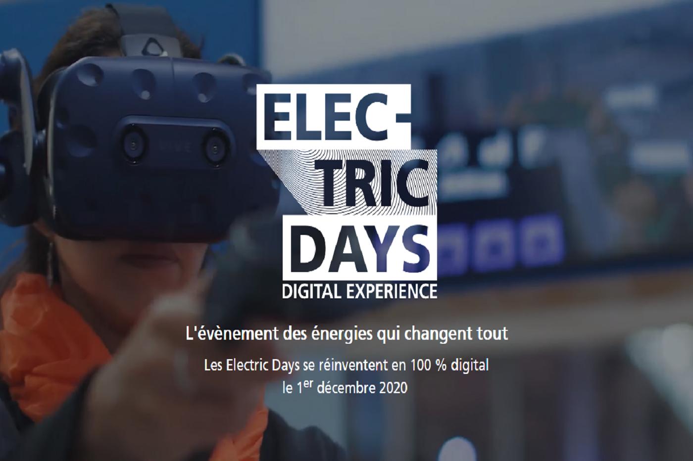 Electric Days : l'énergie du futur se décline en version digitale le 1er décembre