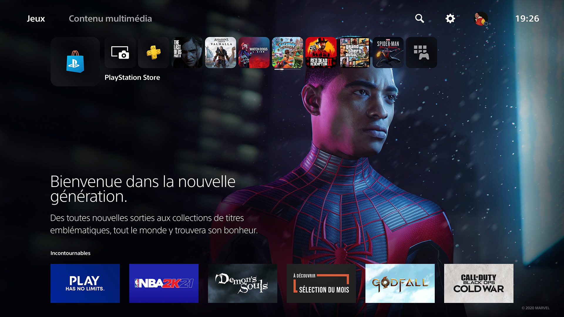 Interface PS5 PlayStation Store