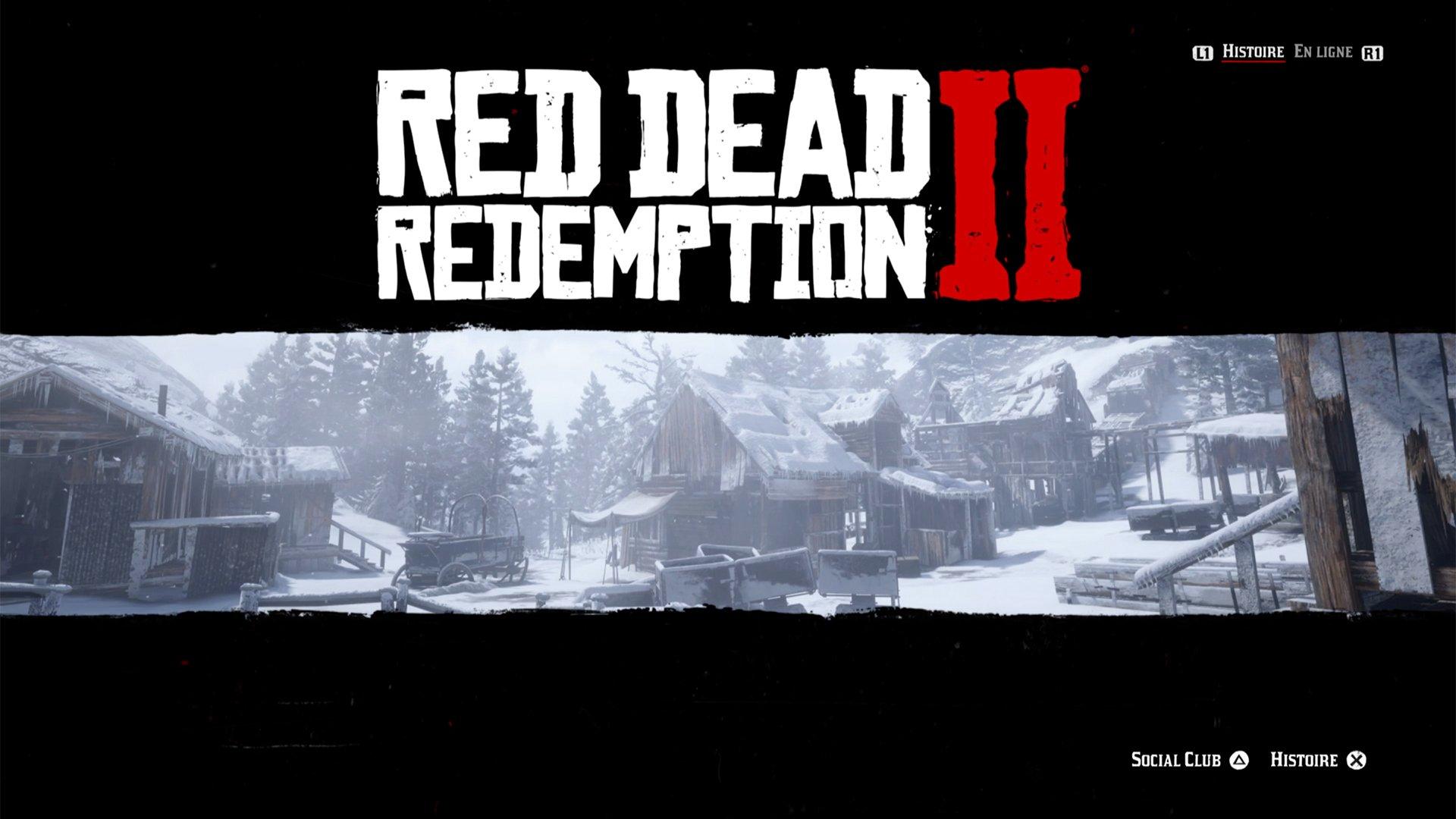 Menu Red Dead Redemption II PS5