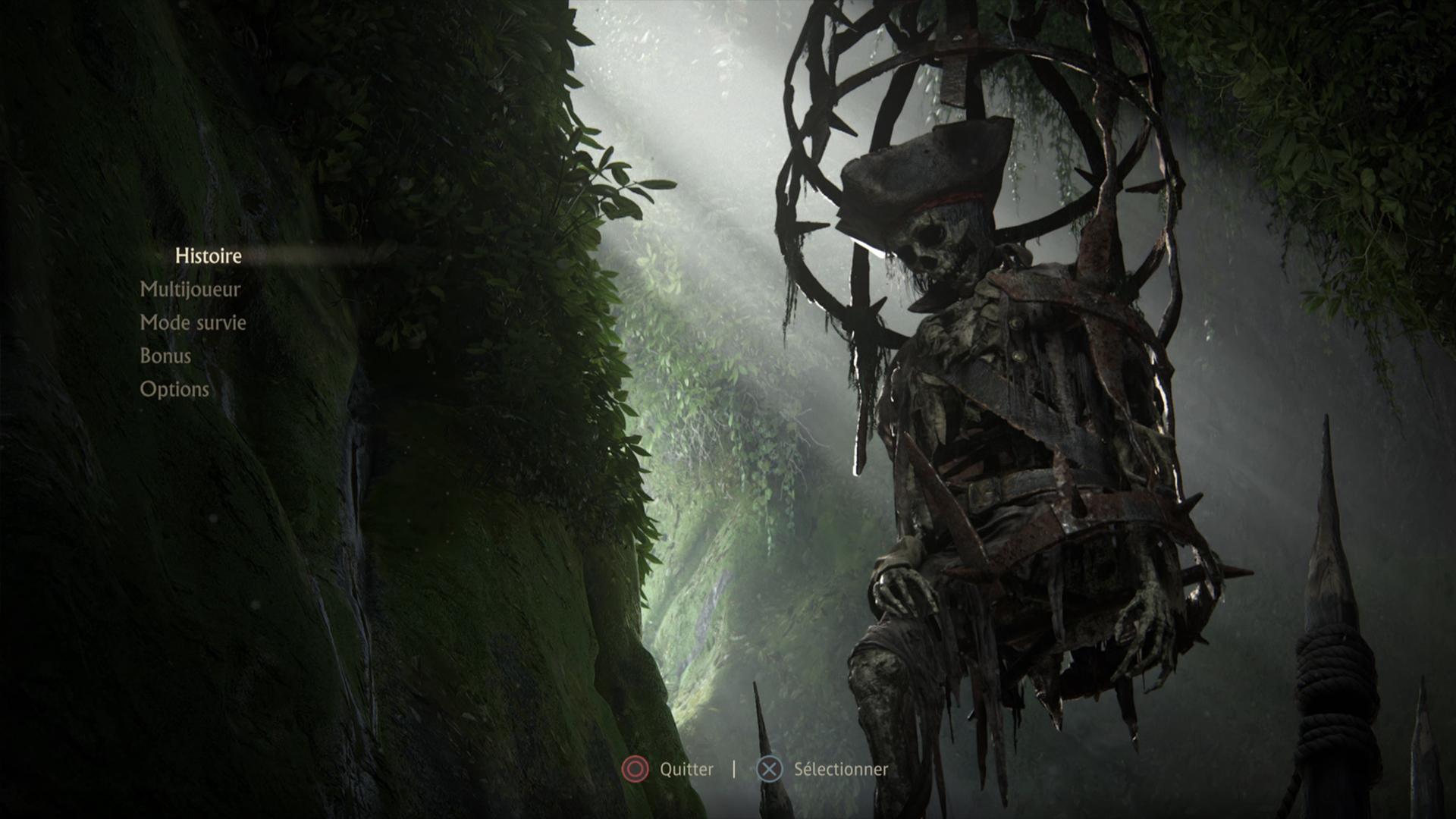 Menu Uncharted 4 A Thief's End PS5