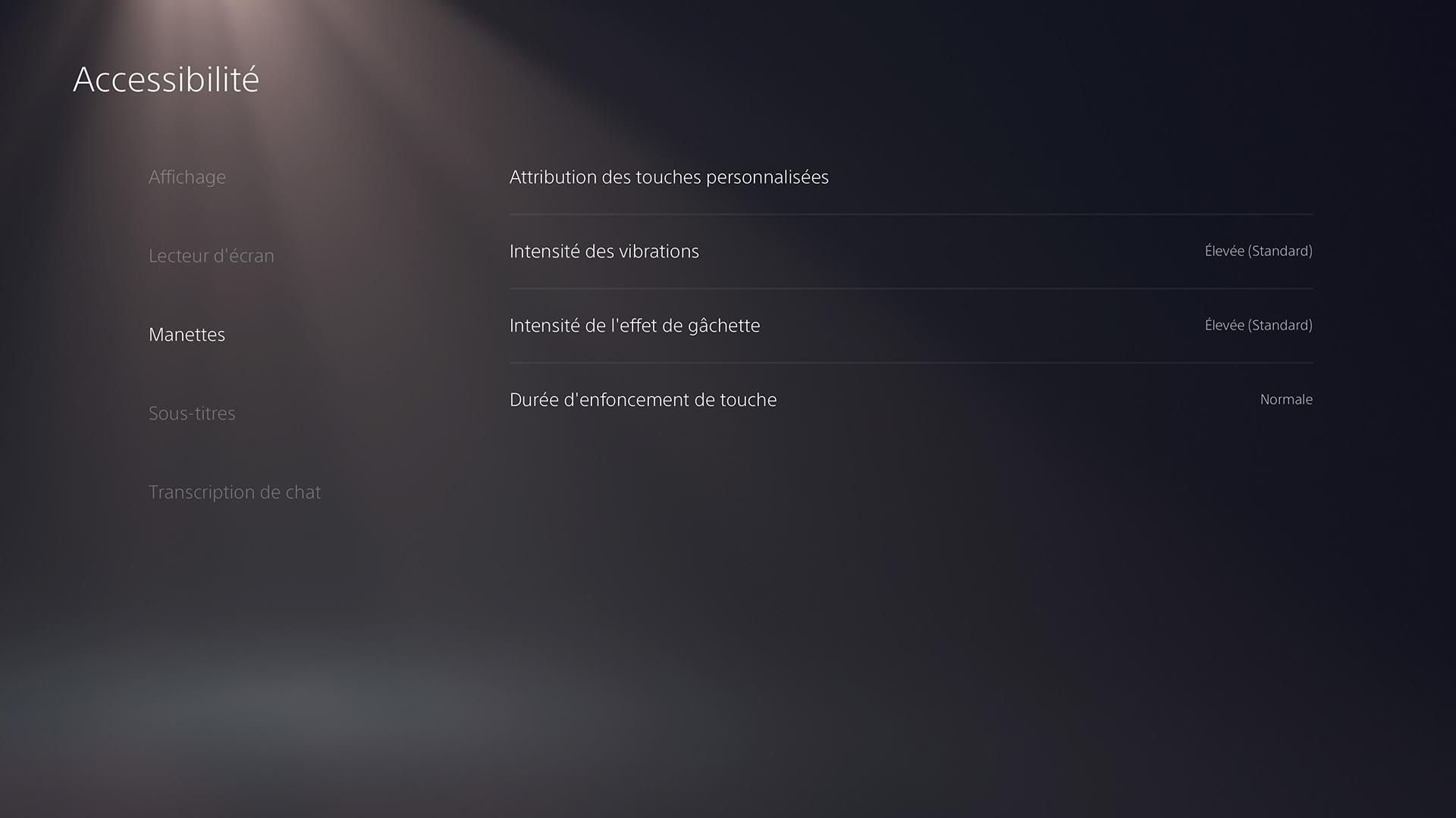 Accessibilité PS5