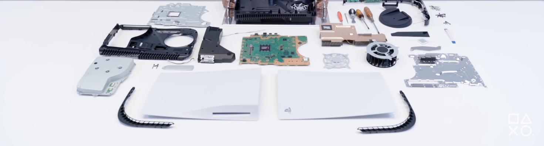 Vue éclatée PlayStation 5