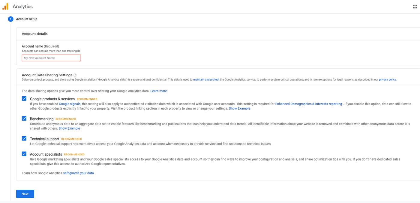 Etape 1 Configuration Compte Google Analytics