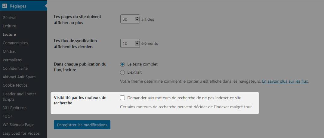 Visibilité Moteurs Recherche WordPress SEO