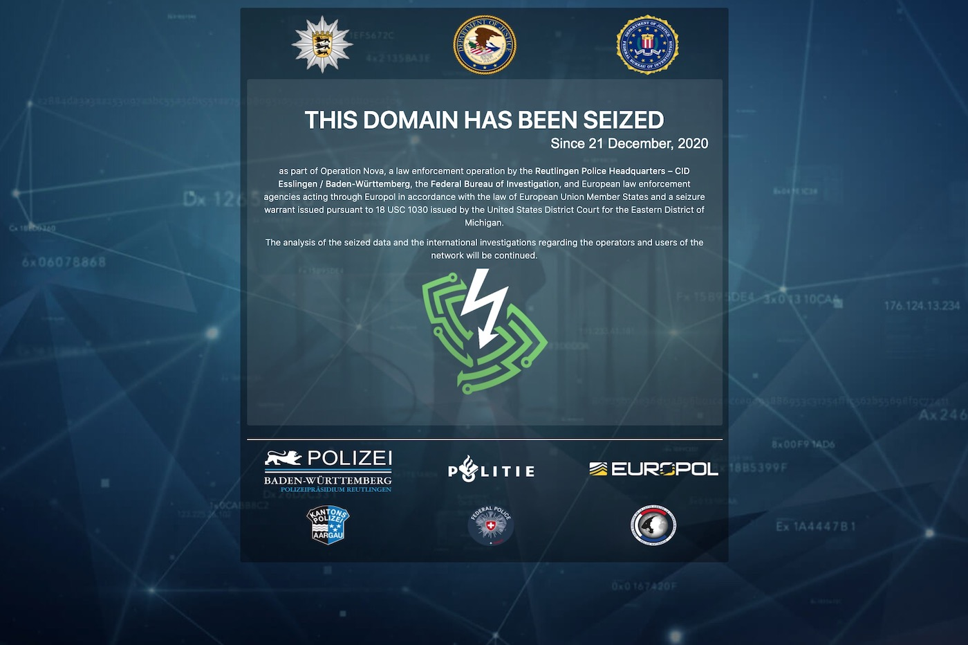 VPN FBI Europol