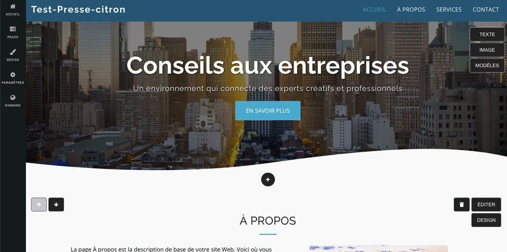 Editeur Site123