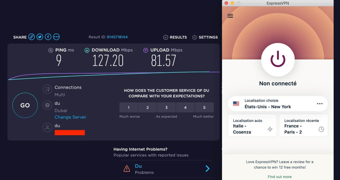 Vitesse VPN off