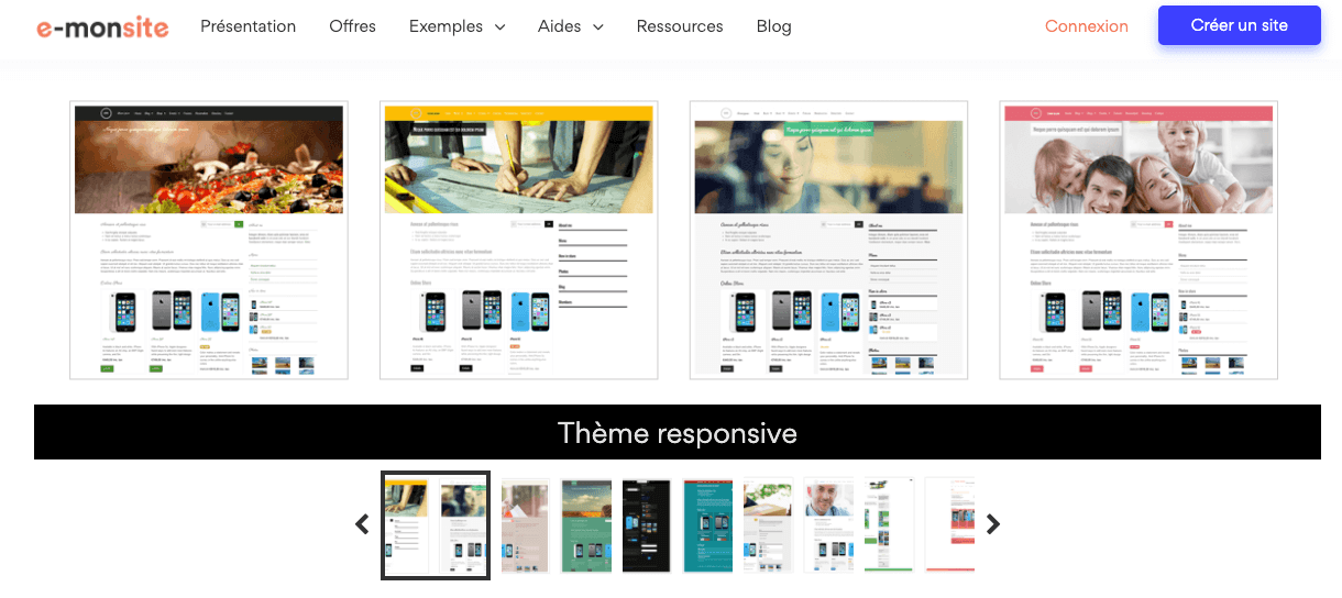 e-monsite designs