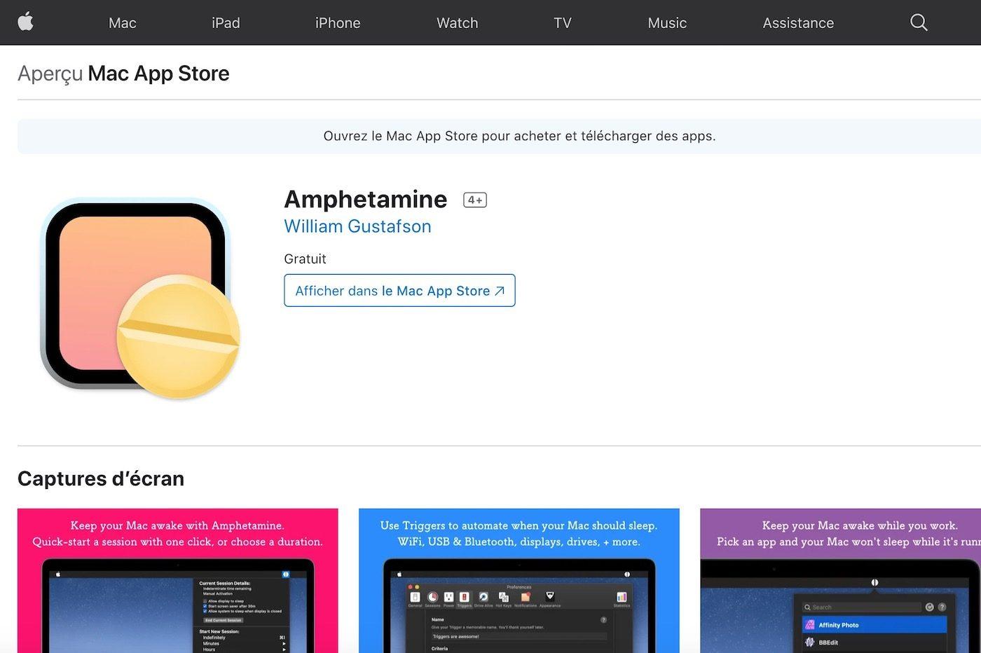 amphétamine mac app store