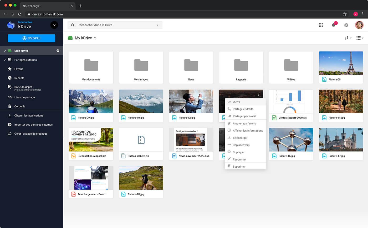 Διαδικτυακή διασύνδεση KDrive