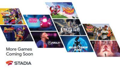 Google Stadia 100 Jeux 2021