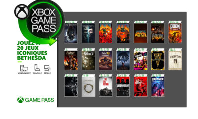 20 Jeux Bethesda Xbox Game Pass