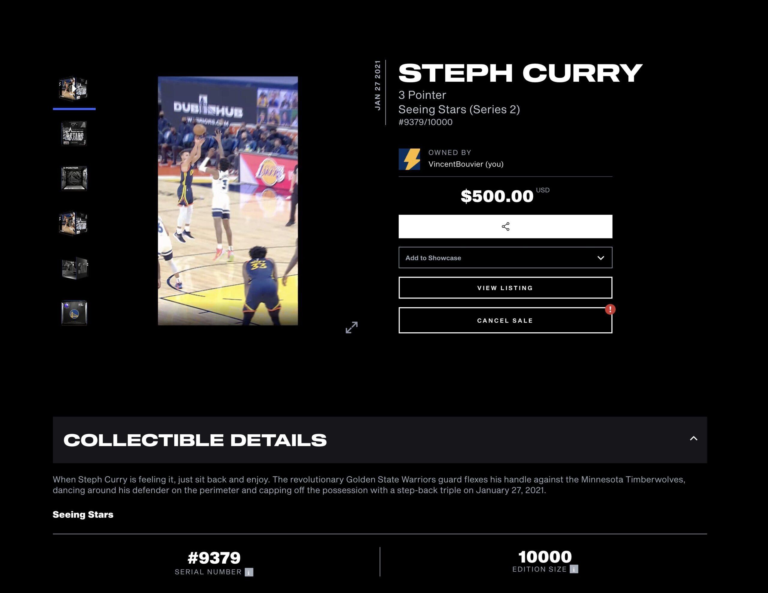 Un moment sur NBA Top Shot