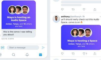 Capture d'écran Twitter, Spaces