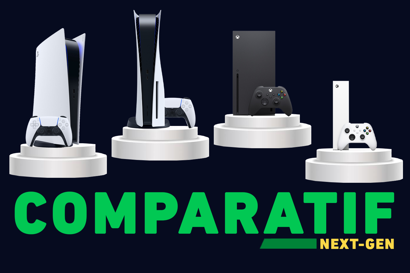 Comparatif Next-Gen PS5 Xbox Series