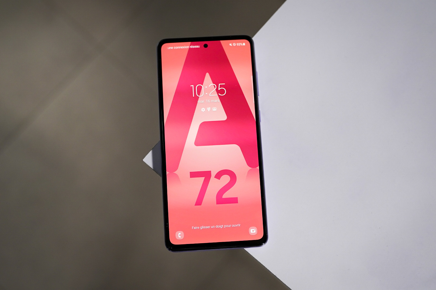 galaxy a72 hands on ecran