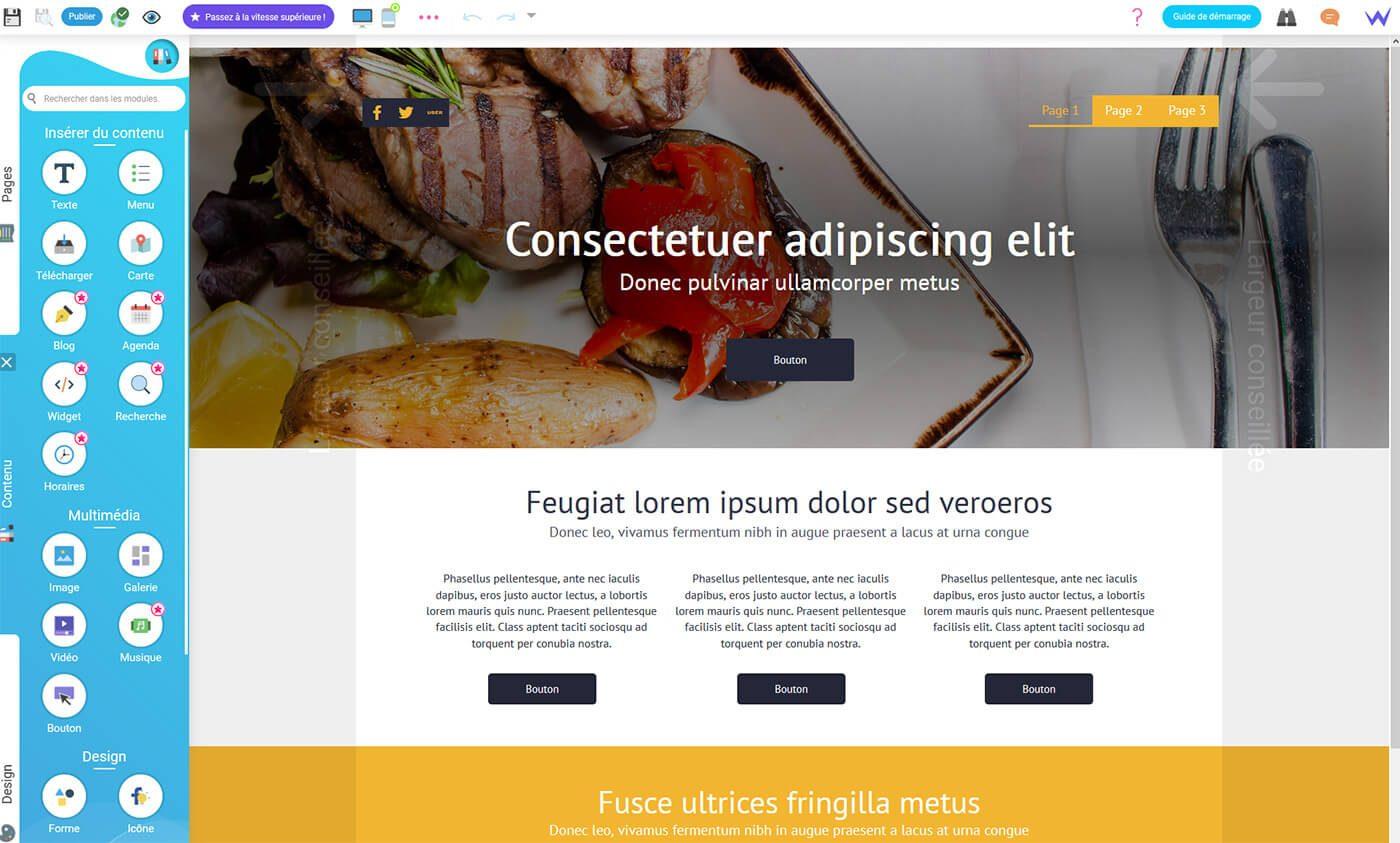 Panneau Edition site Internet SiteW