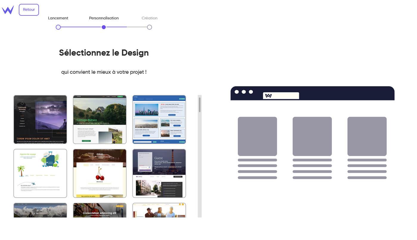 Sélection design SiteW
