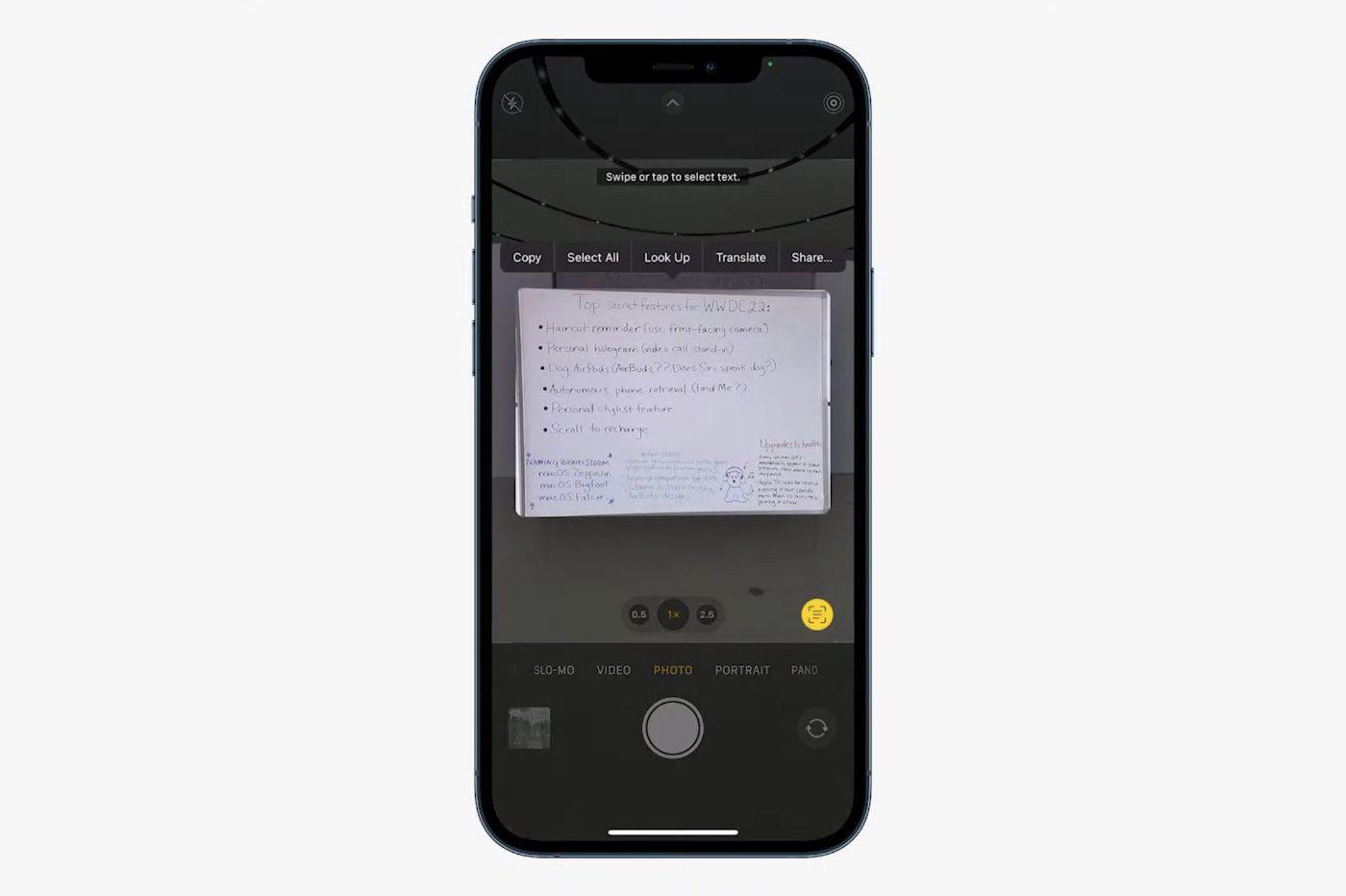 LiveText Apple