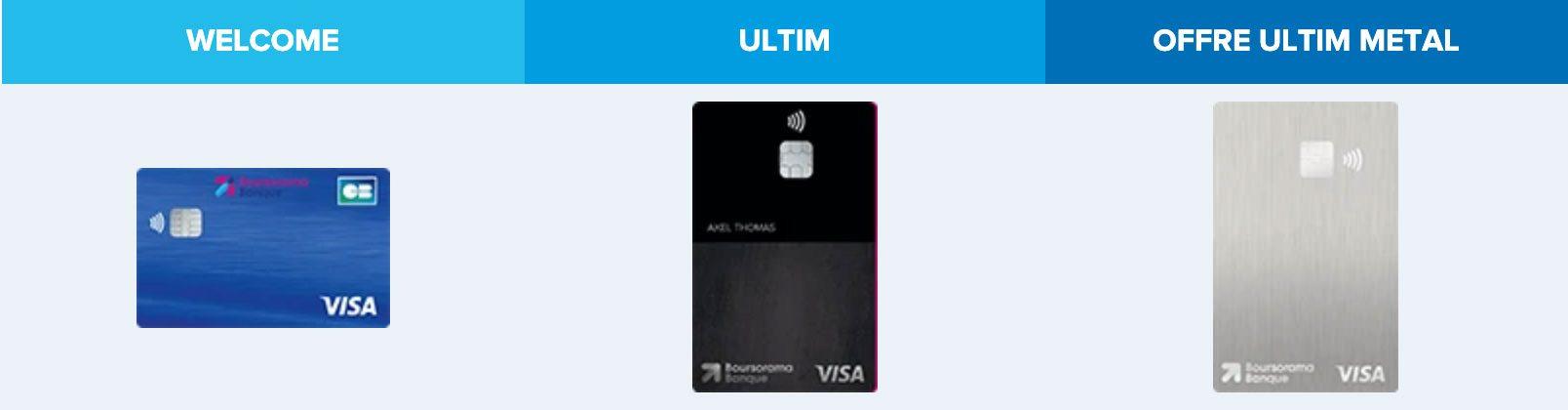 Carte bancaire Boursorama Banque