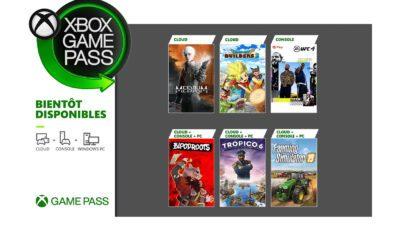 Xbox Game Pass Juillet 2021
