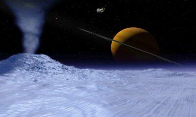 vue d'artiste d'Encelade