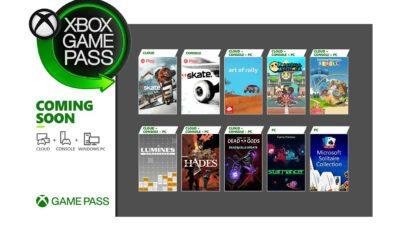 Jeux Game Pass Août 2021