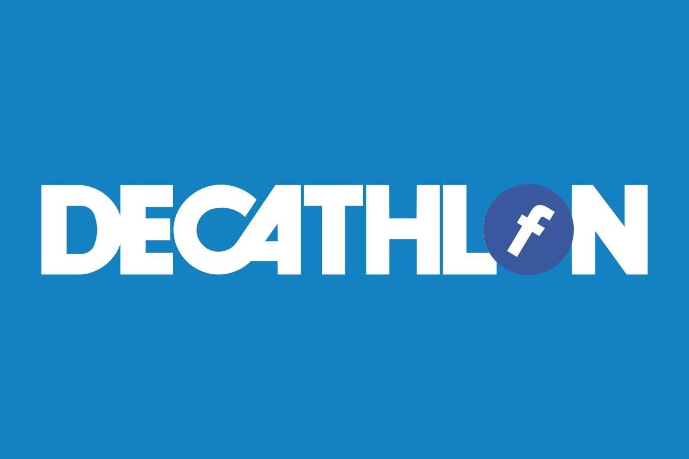 Logos de Decathlon et Facebook