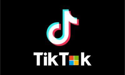 Logos de Microsoft et TikTok