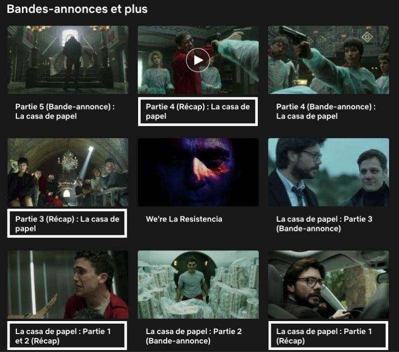 Récap série La Casa de Papel sur Netflix