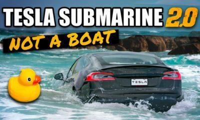 Tesla Model S Plaid Sous-marin