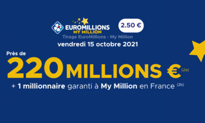Tirage EuroMillions 220 millions